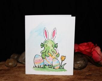 Cthulhu Bunny Card - Eldrich Easter - Blank Card