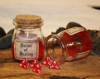 Potion of Healing - D4 dice jar