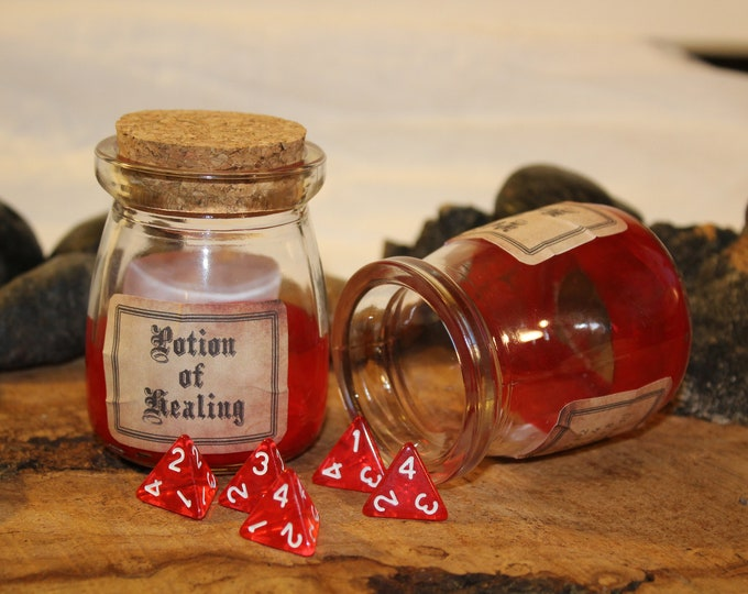 Featured listing image: Potion of Healing - D4 dice jar