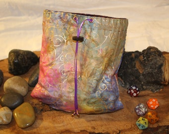Bag of Holding - Reversable DIce Pouch - Free d20