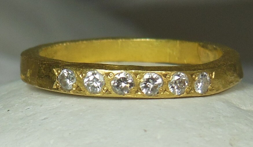 54cab41f1d39a 22 kt Yellow gold and diamond band, Wedding band, yellow gold and diamond  ring, anniversary band