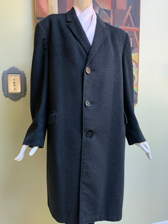 "Vintage Early 60s ""Mad Men"" Style Wool Topcoat - M"