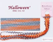 Hand dyed 8 mm wide cotton rick-rack trim, zig-zag - 39 Halloween 39