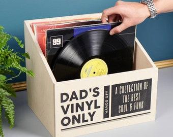 Personalised Vinyl Record Storage Box
