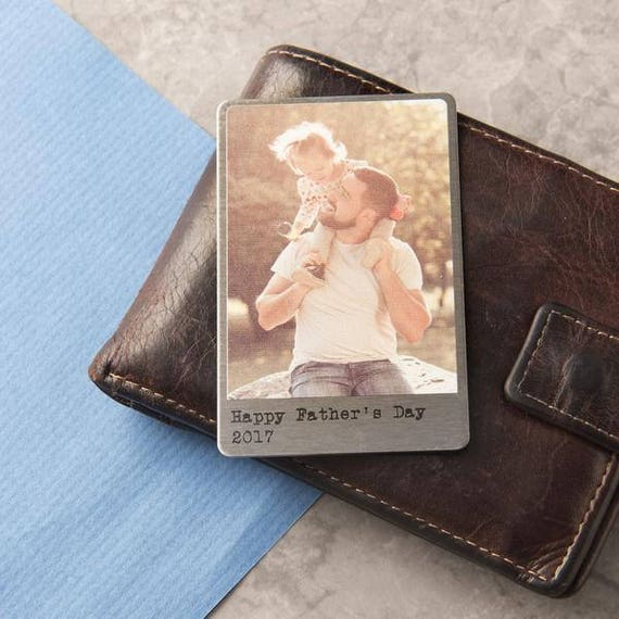 Personalised Solid Copper Wallet Photo Card by Etsy