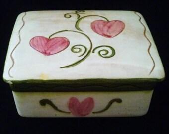 Stangl Pottery Terra Rose Trinket Box
