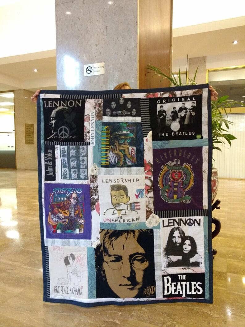 Custom T-Shirt Quilt Concert Tee Quilt Custom Quilt Sports Tee Shirt Handmade Art Quilt