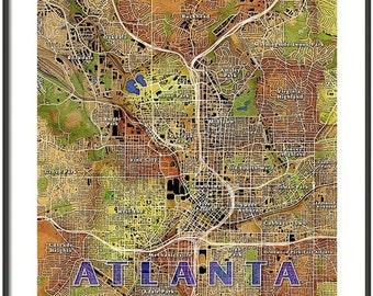 FRAMED Atlanta Map Art