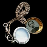 Victorian Watch Fob with Photo Locket