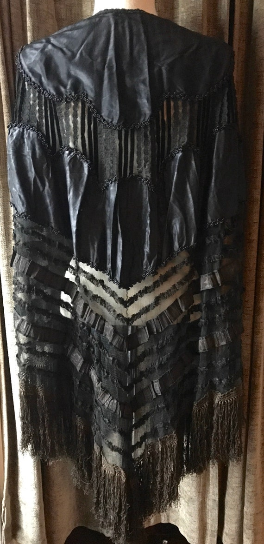 Victorian Black Beaded Cape - image 4