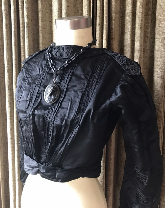 Edwardian Black Silk Blouse