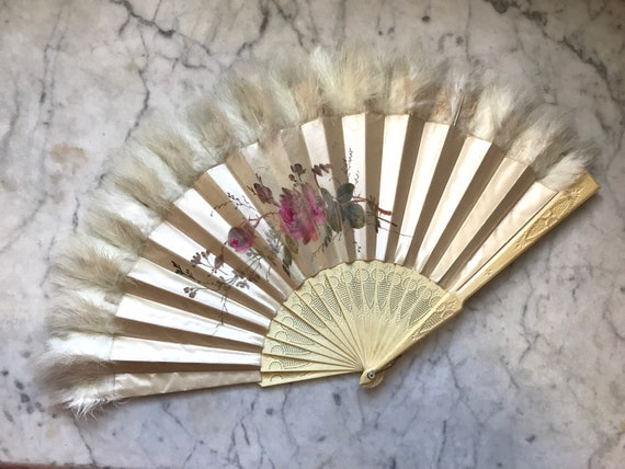 Victorian Hand Painted Fan