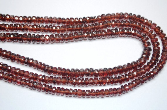 """GARNET 8-6mm long X 5-6mm wide Faceted Pear Topdrill Gemstone Beads 13.5/"""" strand"""