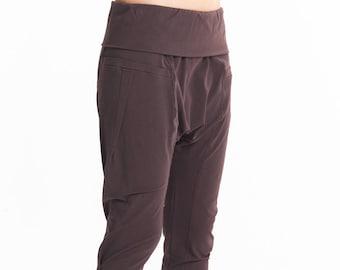 d94c9fe2a8 Arya Yoga Pants/ Muted Bordo Drop Crotch Pants/ Arya Yoga Wear/ Cropped Yoga  Bottoms/ Handmade Loose Yoga Pants by AryaSense/ PDCS16MB