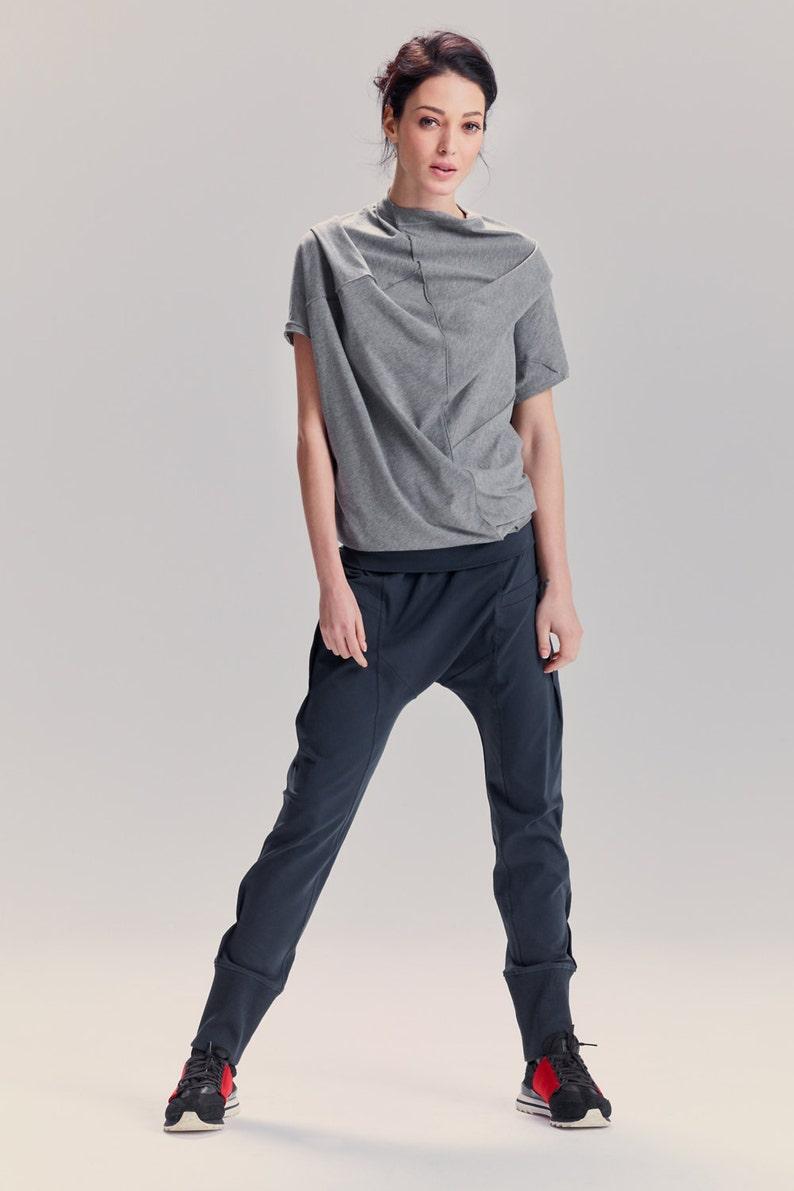 ba40f52be5a16c Arya Muted Blue Drop Crotch Pants / Arya Yoga Pants / Yoga | Etsy