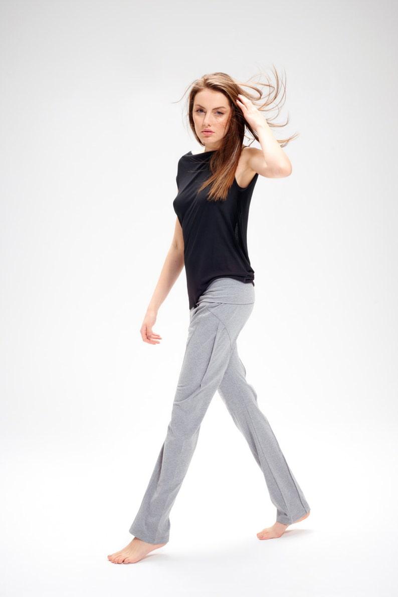 19d1231491 Arya Grey Yoga Pants / Casual Pants / Drop Crotch Pants / | Etsy