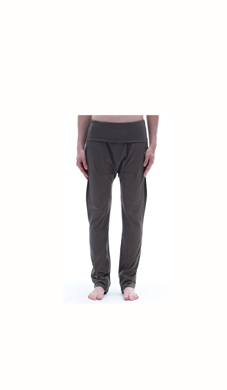 ab72af0aed67af Yoga Pants / Drop Crotch Pants / Brown Harem Pants /Loose | Etsy
