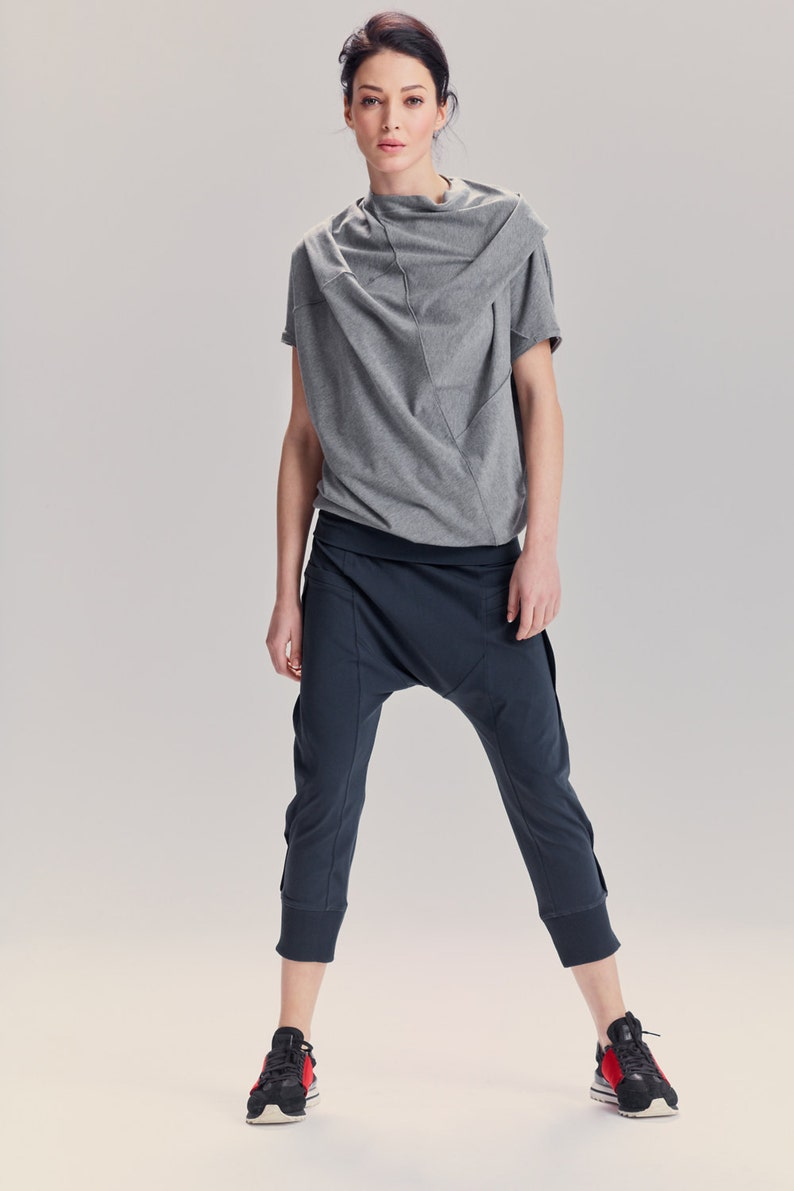2fecfee666 Arya Yoga Pants/ Muted Blue Drop Crotch Pants/ Yoga Pants/ | Etsy