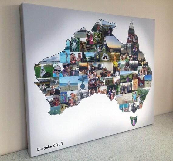 País foto Collage mapa del país o cualquier forma Collage