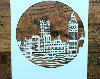 Westminster! London papercut template download