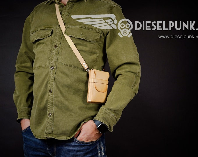 Phone Holster - Wallet Holster - Leather DIY - Pdf Download - Video Tutorial