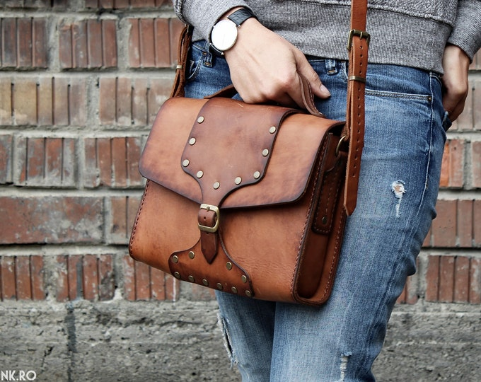 Messenger Bag - Leather Bag - Hand made Bag - Unisex Bag