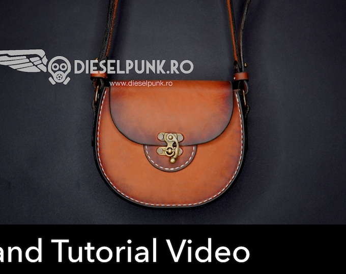 Ladies Purse Pattern - Bag Pattern - Leather DIY - Pdf Download - Leather Purse - Video Tutorial