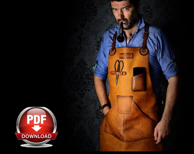 Apron Pattern - Leather DIY - Pdf Download - Leather Apron - Video Tutorial