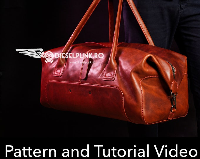 Duffel Bag Pattern - Leather DIY - Pdf Download - Gym Bag - Video Tutorial