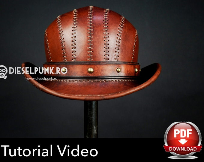 Bowler Hat Pattern - Leather Hat Pattern - Pdf Download - Video Tutorial