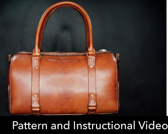 Weekender Bag Pattern - Pdf Download - Leather Pattern - Overnight bag Template - Leather Bag Pattern - Bag Template - carry on Bag