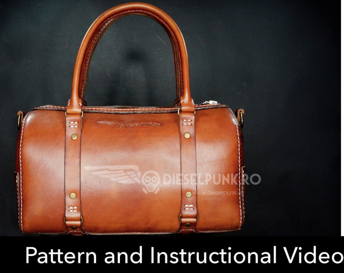 Bag Pattern - Leather DIY - Pdf Download - Weekender Bag - Video Tutorial
