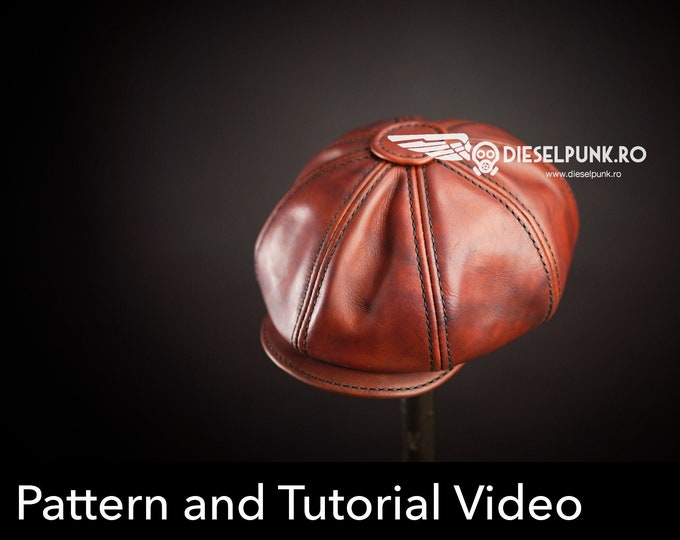 Newsboy Cap PATTERN - Peaky Blinders Hat - Flat Cap Pattern - Video Tutorial