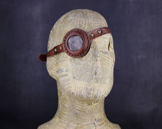 STEAMPUNK Eyepatch -  leather eyepatch - steampunk fashion