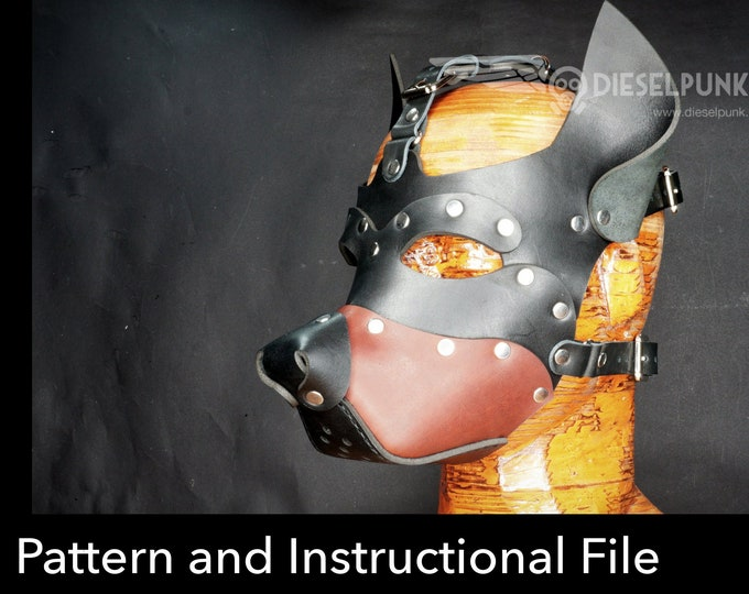 Dog Mask Pattern - DIY Mask - Pdf Download - Pup Hood Pattern