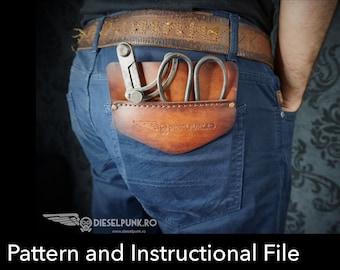 Pocket Protector Pattern - Leather DIY - Pdf Download