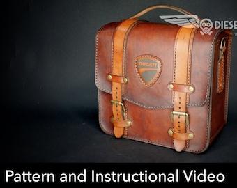Bag Pattern - Leather DIY - Pdf Download - Leater Bag - Video Tutorial 8098c7d752