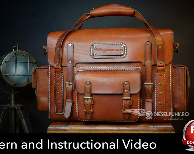 Bag Pattern - Pdf Download - Leather DIY - Explorer Bag - Video Tutorial