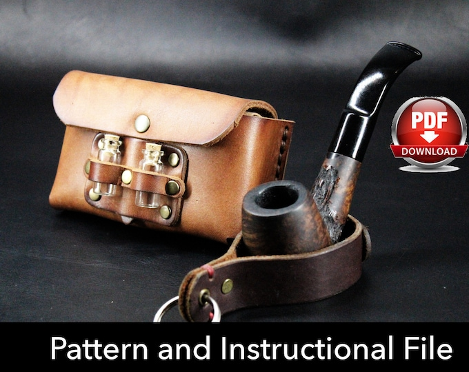 Pouch Pattern - Leather DIY - Pdf Download - Utility pouch