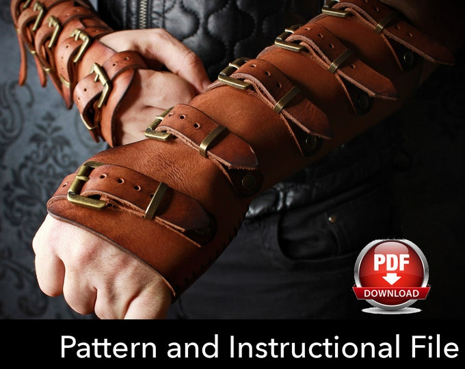 Bracers Pattern - Cosplay DIY - Pdf Download - Cosplay Bracers - Bracer templates