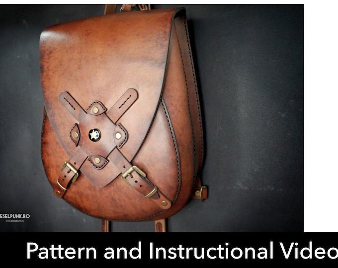 Backpack Pattern - Leather DIY - Pdf Download - Leather Pattern - Rucksack Pattern - Bag Pattern - Crossbody Backpack