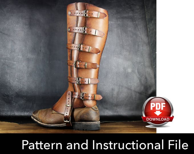 Gaiters Pattern - Cosplay DIY - Pdf Download - Cosplay Pattern Gaiters - Half Chaps Pattern