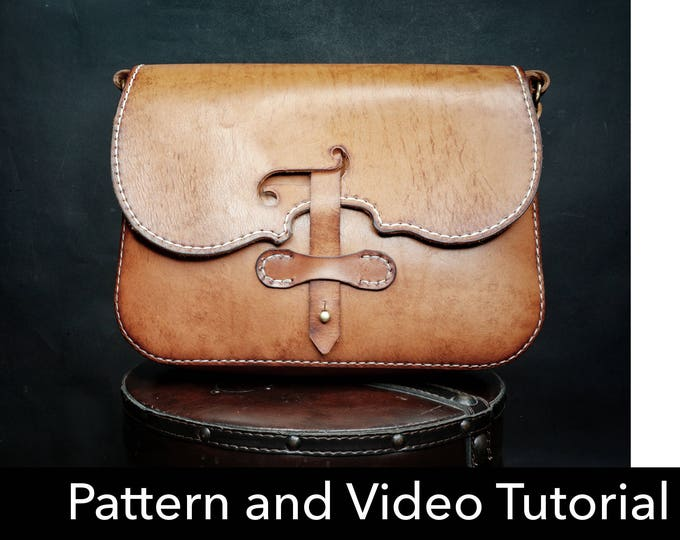 Bag Pattern - Leather DIY - Pdf Download - Leather Pattern - violin Bag Pattern - Messenger bag Pattern - leather bag template