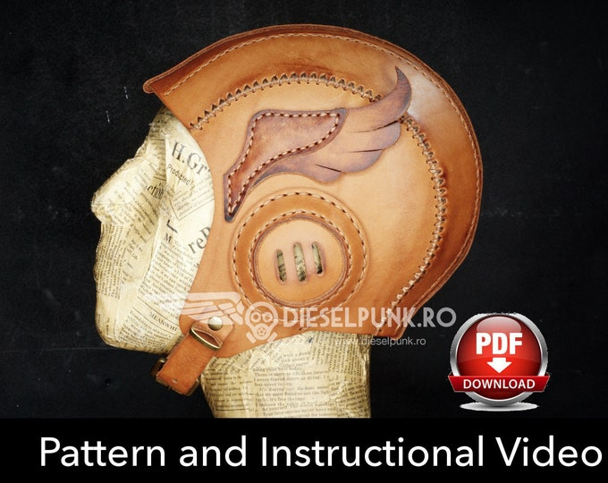 Aviator Cap Pattern - Cosplay DIY - Pdf Download - Video Tutorial