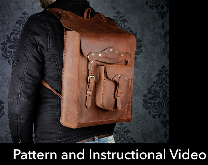 Backpack Pattern - Leather DIY - Pdf Download - Video Tutorial