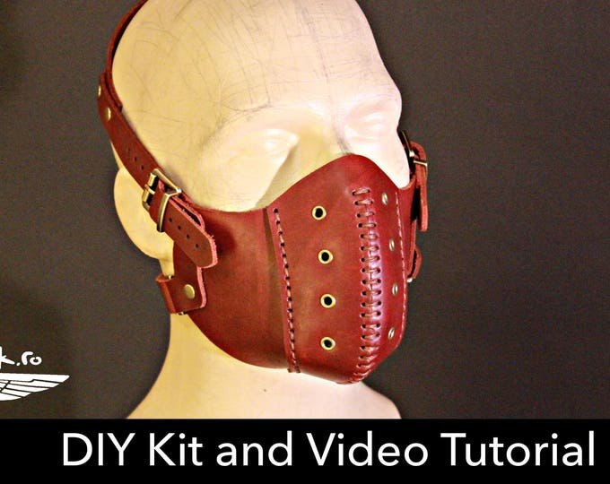 Steampunk Mask KIT - DIY Leather - Halloween Mask DIY - Leather Mask