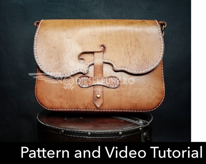 Bag Pattern - Leather DIY - Pdf Download - Violin Bag - Video Tutorial