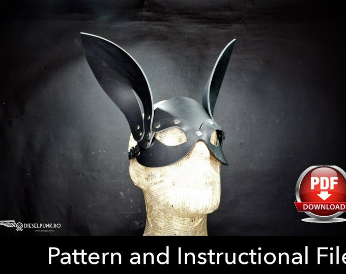 Rabbit Mask Pattern -Cat Mask Pattern -  DIY Pattern - Halloween Mask DIY - Mask Pdf Download - Cat Mask Template - Rabbit Mask Pattern