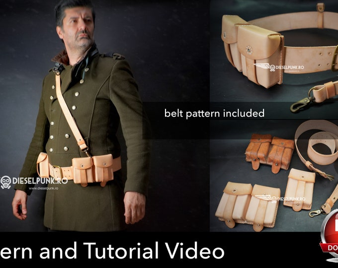 Ammo Pouch Pattern - Leather DIY - Pdf Download - Ammunition Pouch - Video Tutorial