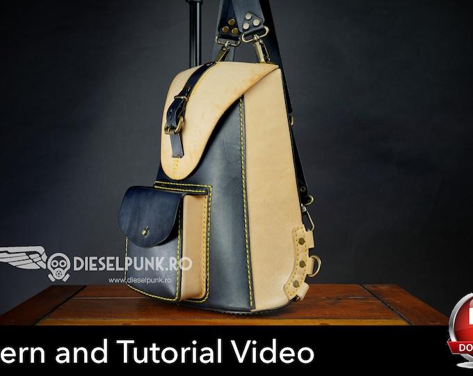Backpack Pattern - Leather DIY - Pdf Download  - Video Tutorial